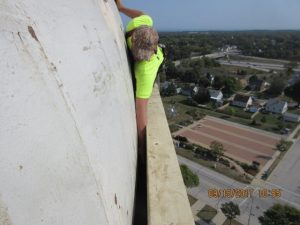 Anderson water tower commercial roofing