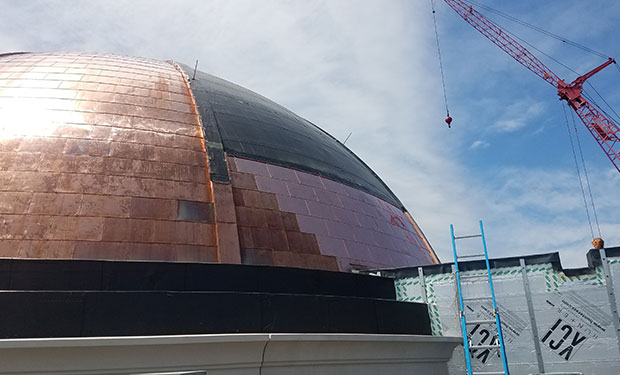 commercial roofing copper dome
