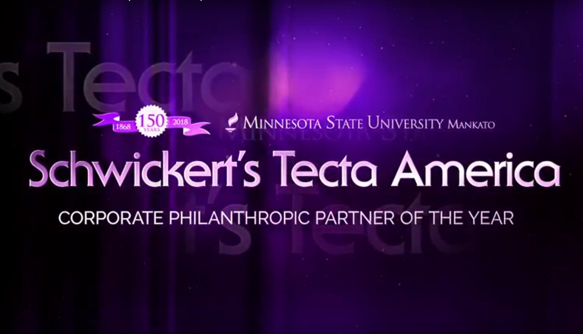 Schwickerts Tecta America Philanthropic Award