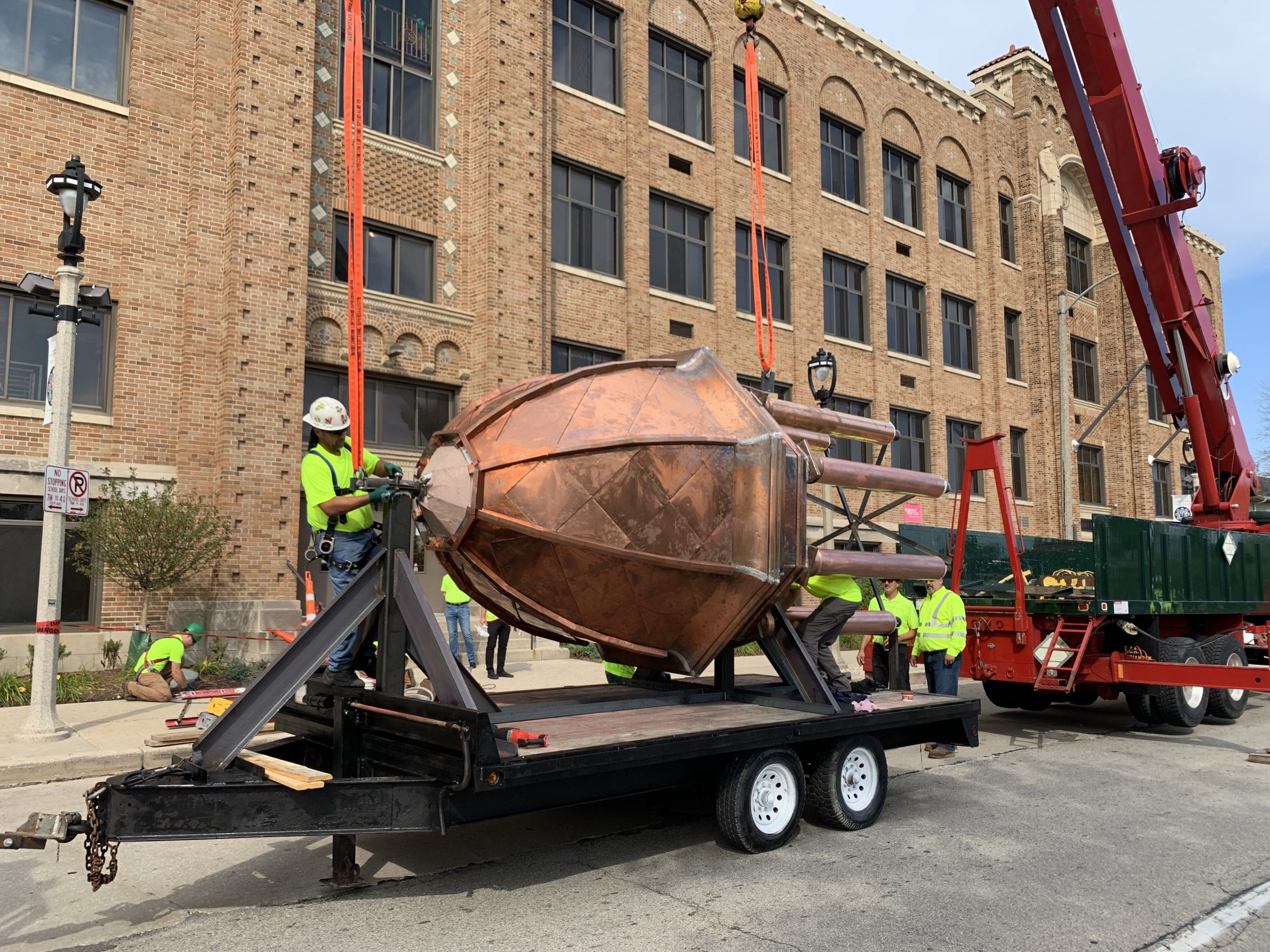 Arrival of Dome on site