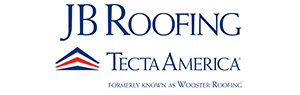 JB Roofing logo, a tecta america commercial roofing company