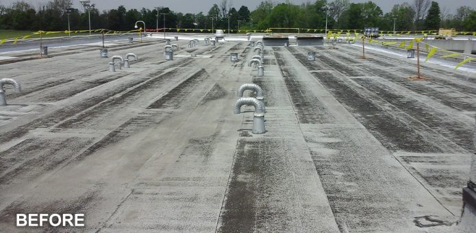 Indiana Law commercial roofing project by blackmore and buckner commercial roofing company