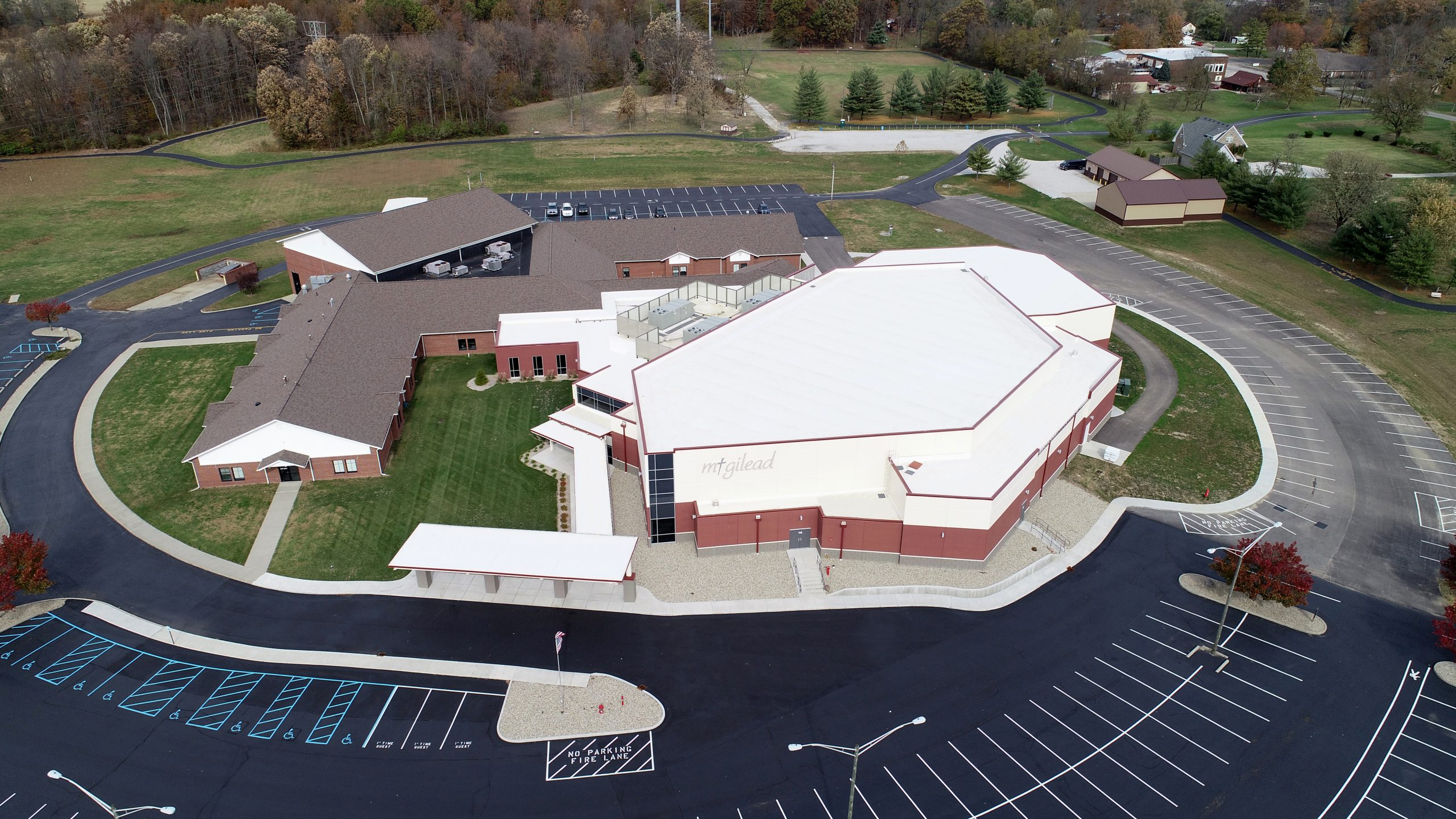 Mt Gilead Church commercial roofing project by ce reeve roofing in Indiana