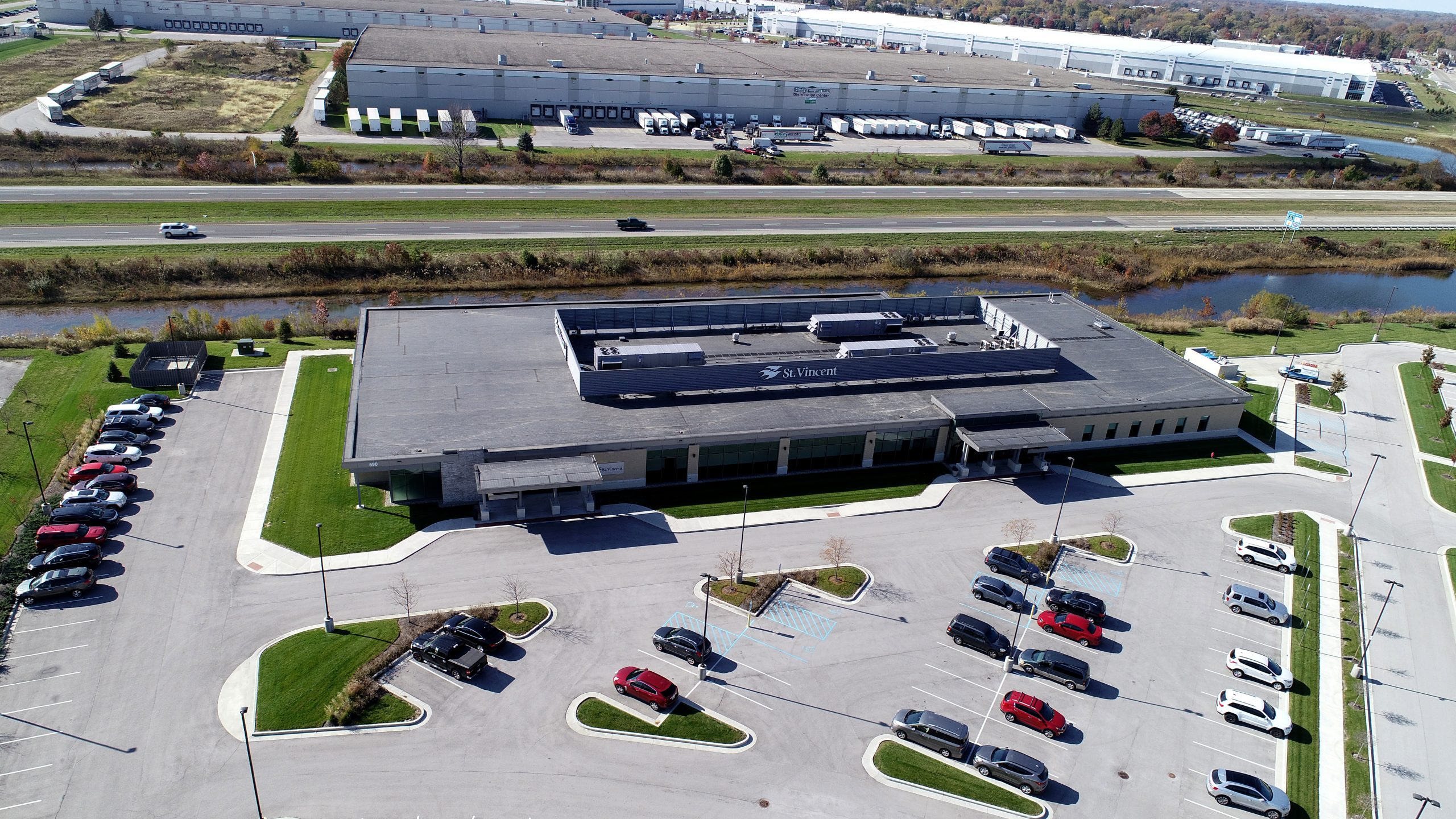 St. Vincent Brownsburg commercial roofing project by ce reeve roofing in indiana