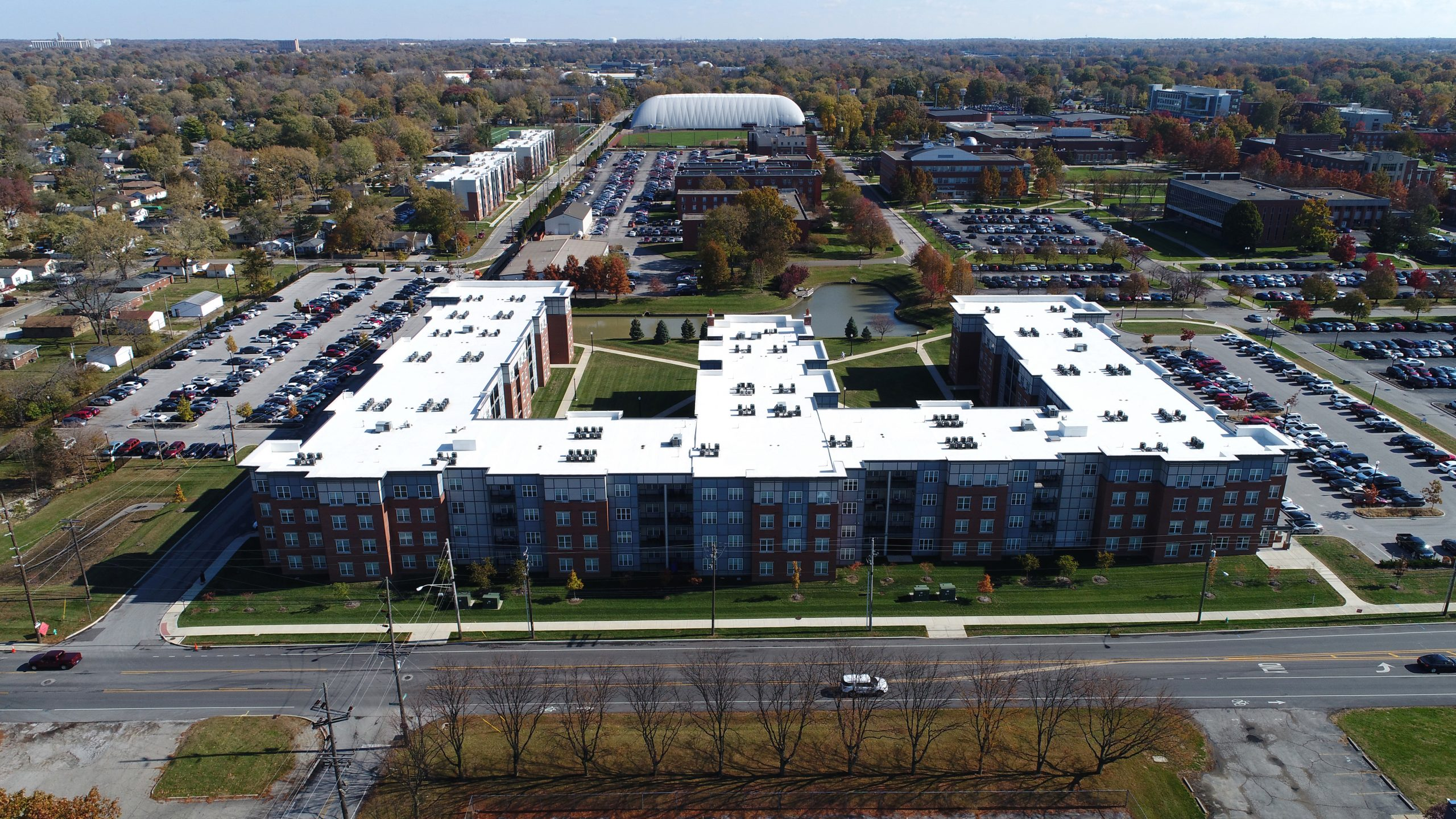 university of indiana commercial roofing project by ce reeve roofing in Indiana