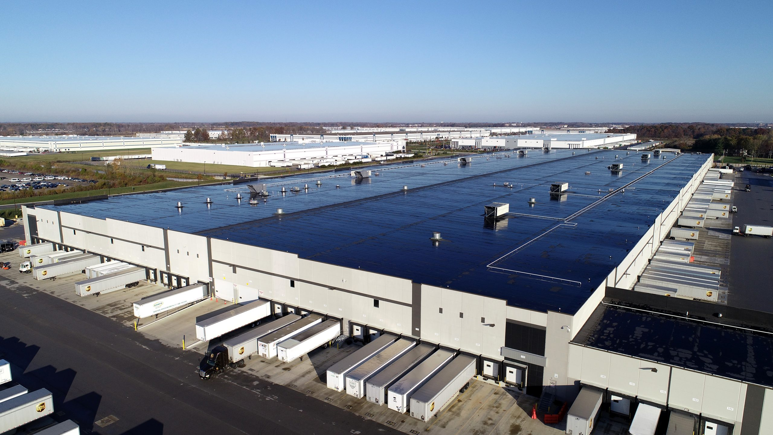 ups commercial roofing project by ce reeve roofing in indianapolis