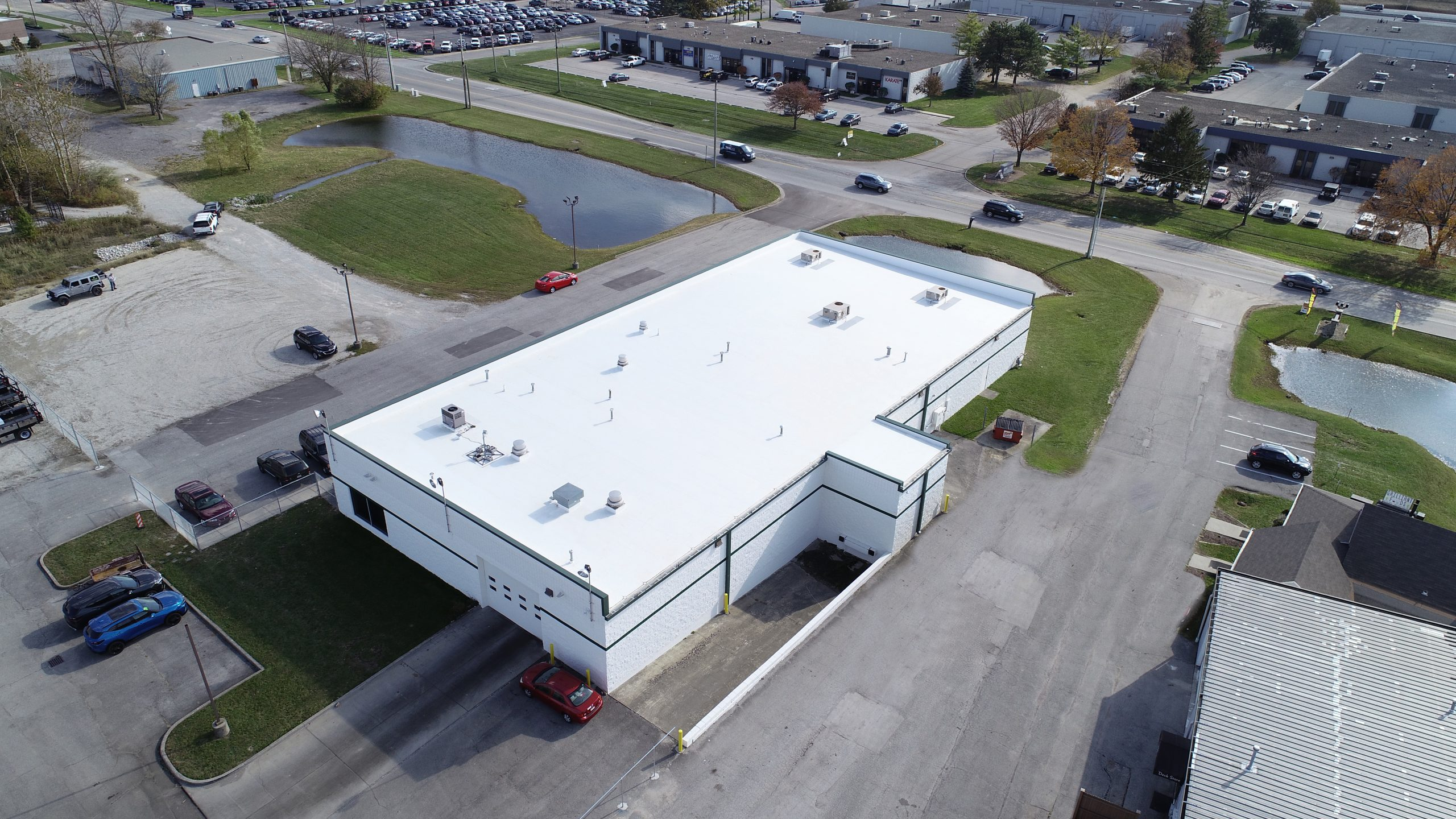bill estes ce reeve commercial roofing project indianapolis, in