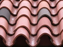 Clay tile used in residential roofing