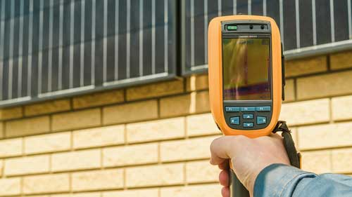 commercial roofing infrared scan