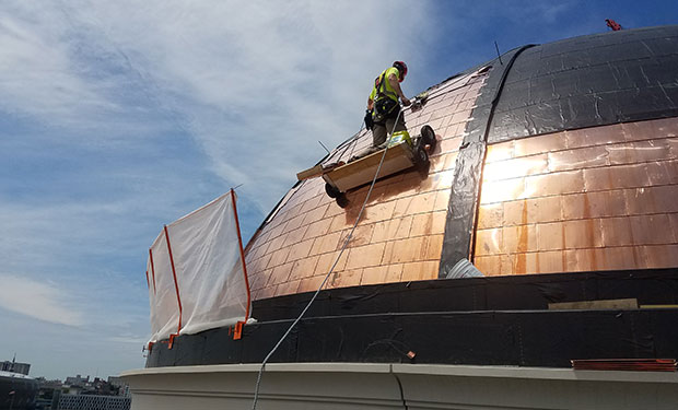 commercial roofing copper dome milwuaukee