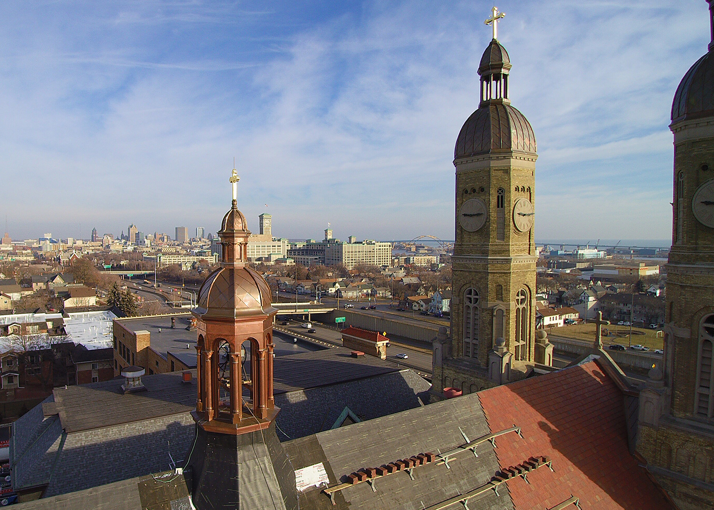 FJA Christiansen Roofing St Stanislaus Church Dome Restorations