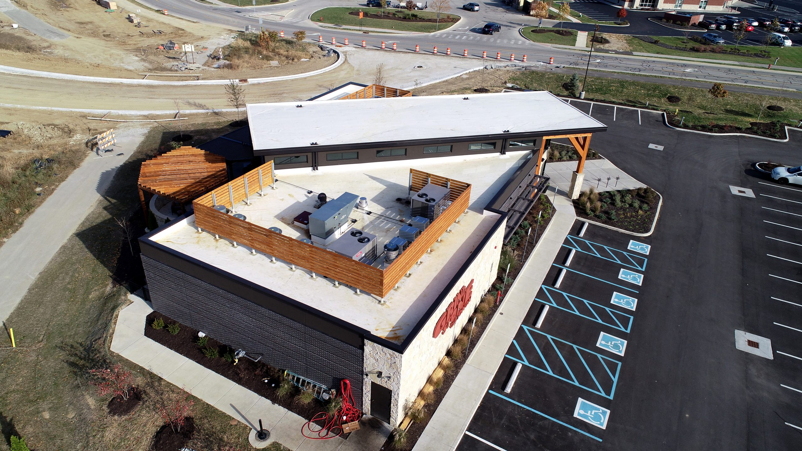 Grindstone Charleys commercial roofing project by ce reeve roofing in Indiana