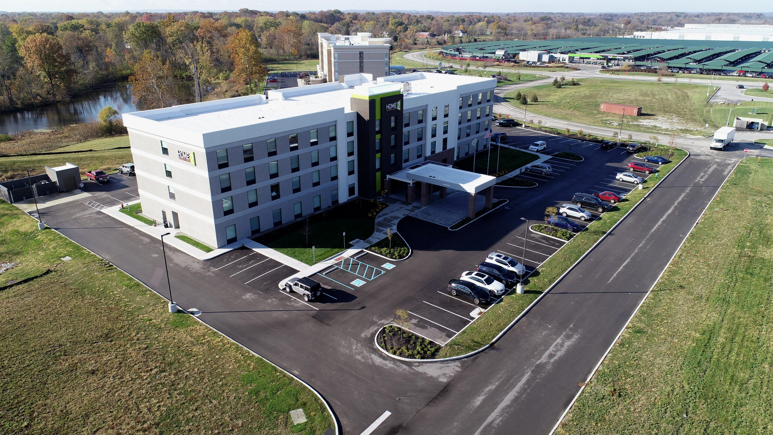 home to suites commercial roofing project by ce reeve roofing in indiana