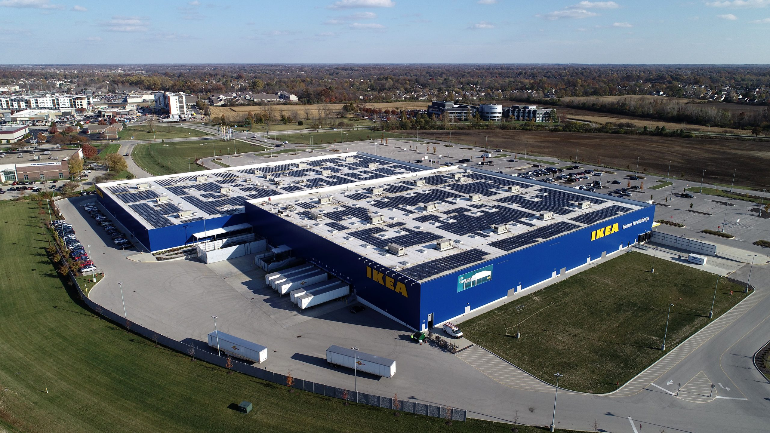 ikea commercial roofing project by ce reeve roofing in indiana