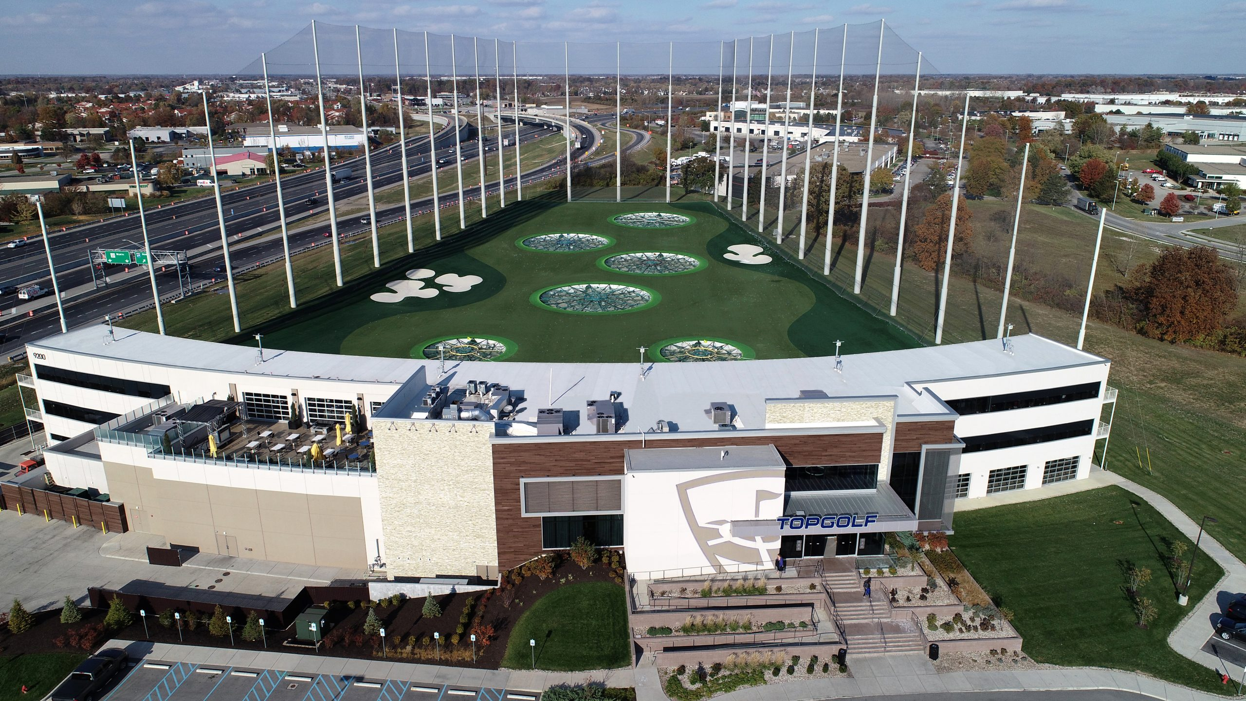 topgolf commercial roofing project by ce reeve roofing in indiana