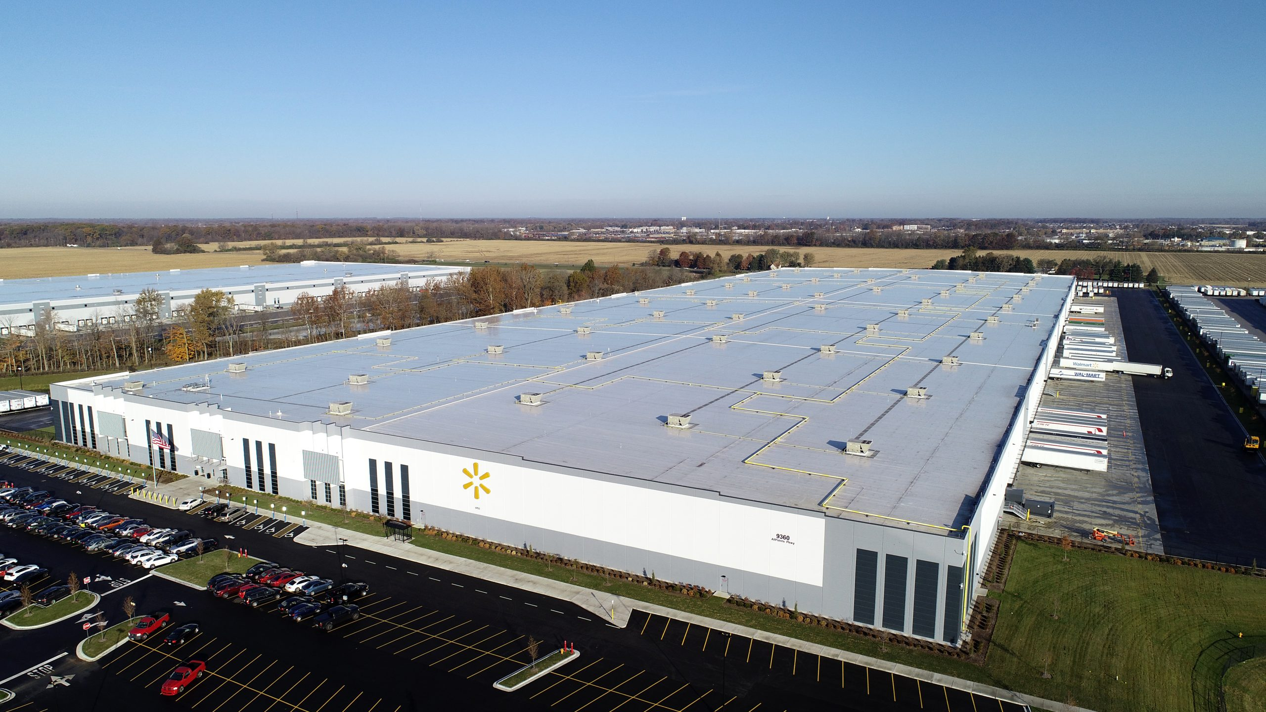 Walmart commercial roofing project by ce reeve roofing in Indiana