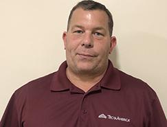 Richard Potts, service manager for Tecta America New england, brockton, ma
